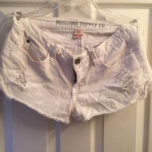 Mossimo Supply Co. low rise white shorts